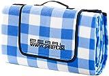PEARL Fleece-Picknick-Decke mit wasserabweisender Unterseite