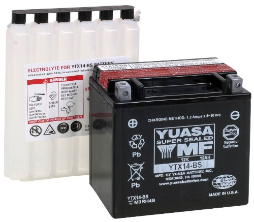 YUASA YTX14-BS Maintenance Free Battery (4 Wheeler Battery compare prices)