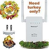 Motoraux Wireless-N Mini Wi-Fi Range Extender with Five Modes, White