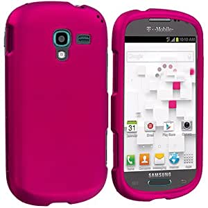 Accessory Planet(TM) Hot Pink Hard Snap-On Matte Rubberized Case Cover Accessory for Samsung Galaxy Exhibit T599