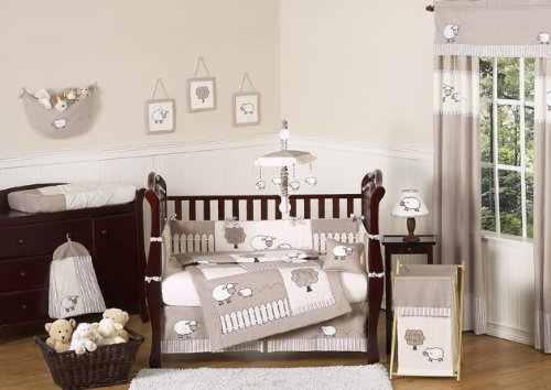 Little Lamb Sheep Animal Farm Baby Boy Uni Bedding 9pc Crib Set
