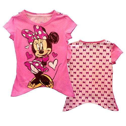 FREEZE Little Girls' Minnie Hearts and Bows Toddler T-Shirt, Hot Pink, 3T
