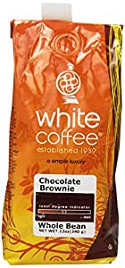 White Coffee Whole Bean Coffee, Chocolate Brownie, 12 Ounce