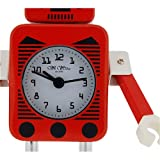 W M Widdop Girls & Boys Novelty Analogue Red & White Robot Alarm Clock 5333