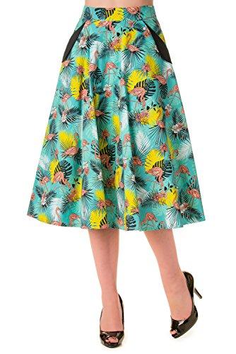 Banned-Wanderlust-Flamingo-Print-Vintage-Skirt