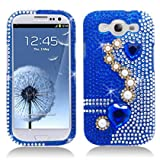 Aimo SAMI9300PCLDI637 Dazzling Diamond Bling Case For Samsung Galaxy S3 I9300 - Retail Packaging - Pearl Blue