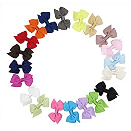 Boutique Baby Girls Toddler Small Pinwheel Hair Bow Clips(20 Pack)