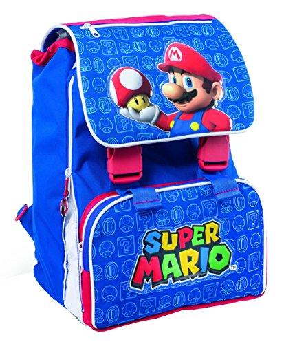 Zaino Scuola Estensibile Super Mario BLU E Rosso 40 X 30 X 25 cm