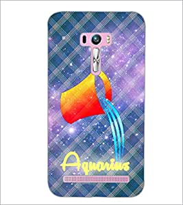PrintDhaba Zodiac Aquarius D-3245 Back Case Cover for ASUS ZENFONE SELFIE ZD551KL (Multi-Coloured)