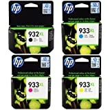 HP 932XL Black & 933XL Cyan, Magenta & Yellow. HP OfficeJet 6100, 6600, 6700. CN053AE, CN054AE, CN055AE, CN056AE.