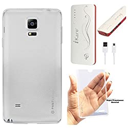 DMG PHNT Premium Scratch-Resistant Ultra Thin Clear TPU Skin Case for Samsung Galaxy Note 4 N9100 (Clear) + 10000 mAh Power Bank
