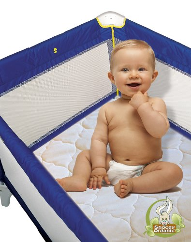 "For Sale! Snoozy Organic Cotton Waterproof PlayYard Pad Featuring Saftety Stay on Corners, 27""x..."
