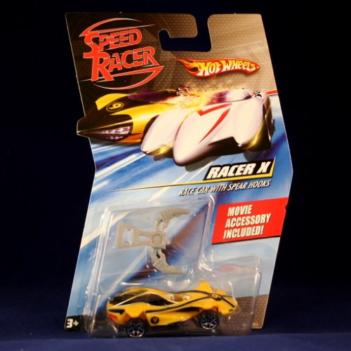 RACER X RACE CAR WITH SPEAR HOOKS Hot Wheels SPEED RACER 1:64 Scale Movie Vehicle - 1
