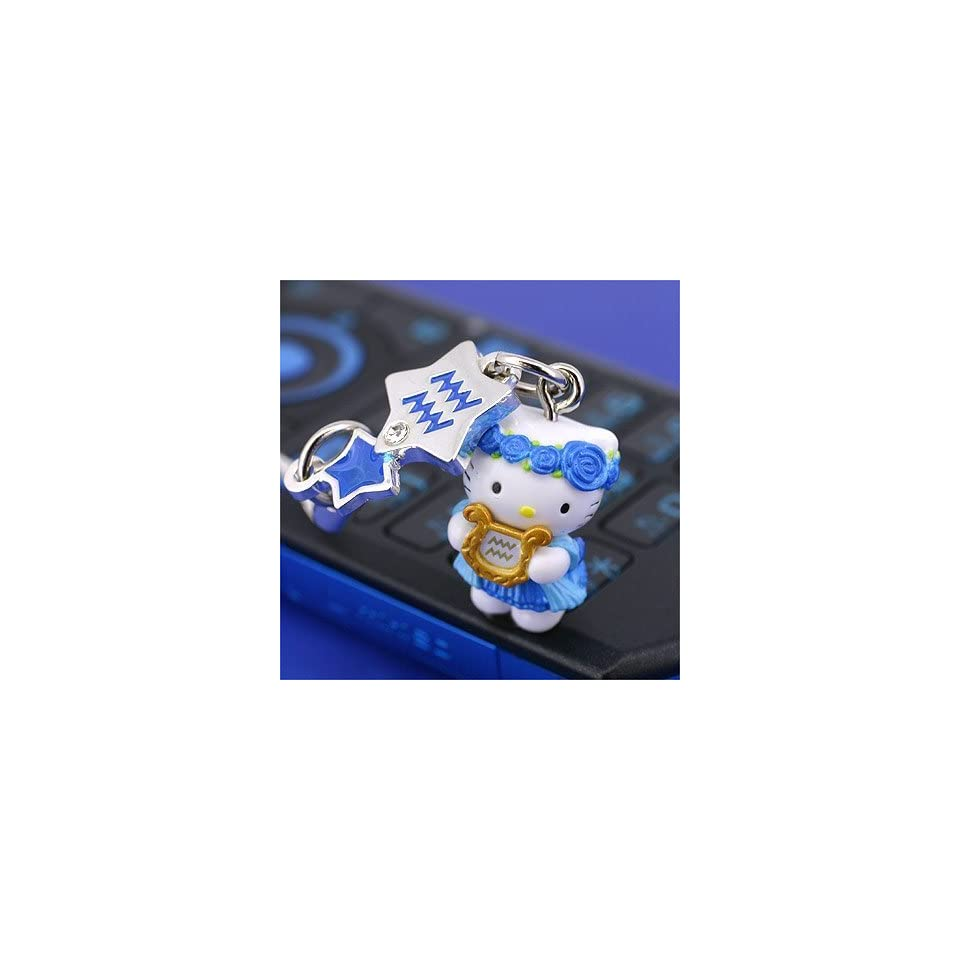 Sanrio Hello Kitty Astrologic Venus Star Charm Cell Phone Strap (Aquariius)   Japanese Import Free Domestic Shipping for This Item