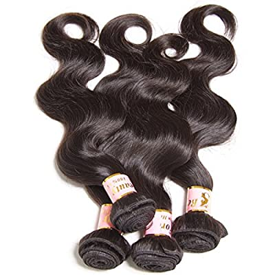 B&F Hair Brazilian Virgin Body Wave Weft 3 Bundles 10-26inch 100% Unprocessed Virgin Human Hair Extensions Natural Color (100+/-5g)/pc