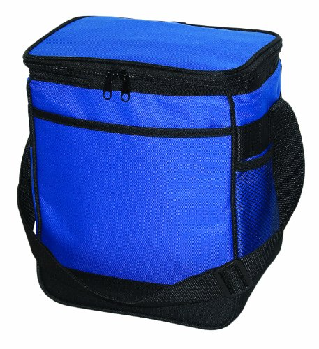 Deluxe 12 Can Insulated Cooler Bag Durable 600D, Royal by BAGS FOR LESSTM - 1