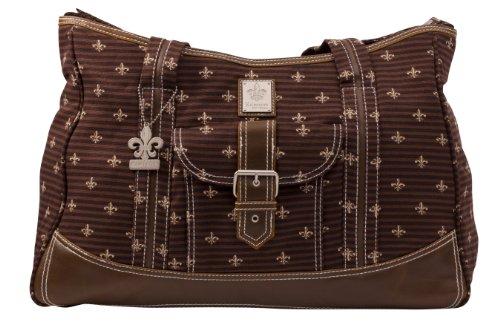 kalencom-fashion-borsa-porta-pannolini-in-canvas-con-fibbia-e-accessori-a-fantasia-colore-marrone
