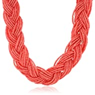 Braided Seed Bead Necklace, 16″ – Just $15.40!