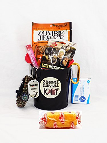 Zombie Apocalypse Survival Gift Basket with Walking Dead Loot (Dead Whistle compare prices)