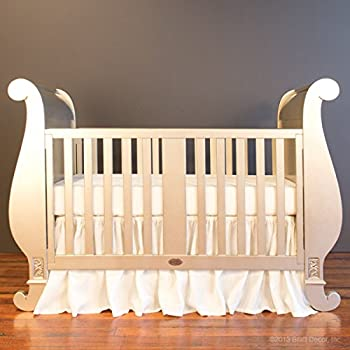 Bratt Decor chelsea sleigh crib antique silver