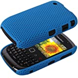 IGloo Premium: Blue Hybrid Mesh Cover Case Skin for BlackBerry Curve 8520 & Curve 3G 9300