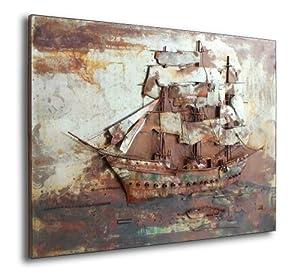 Tall Ship Metal Wall Art Kitchen Home