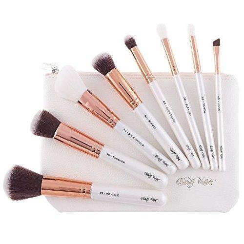 Makeup Brush Set Rose Gold 8 Professional Brushes Soft