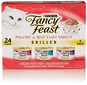 Fancy Feast Grilled Poultry and Beef Feast 3-Flavor Variety Pack (24 Count, 3 Oz Each)
