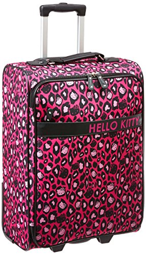 Hello-Kitty-HK-Pink-Leopard-Rolling-Suitcase