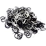 Black and White Loom Refill 600 Bands and 24 S Clips ®Thingers