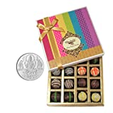 Chocholik Belgium Chocolates - Signature Collection Of Truffles Gift Box With 5gm Pure Silver Coin - Gifts For...