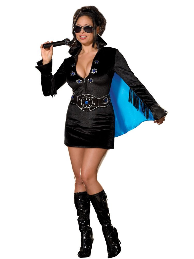 Plus Size Elvis Costume Black Womens Elvis Costume Mini Dress Celebrity Costumes  sc 1 st  linza junet - Blogger & linza junet: Plus Size Elvis Costume Black Womens Elvis Costume Mini ...
