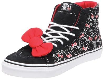 Vans U Sk8-Hi Slim Casual High-Top Hello Kitty Sneaker - Black True White