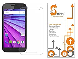 SAVVY(TM) Motorola [ 3rd Generation Moto G3 ] / [ Moto G Turbo ] Round Curved 2.5D Edge 9H Hardness Toughened Tempered Glass Screen Guard Protector (2015 Model / Dual SIM Version)