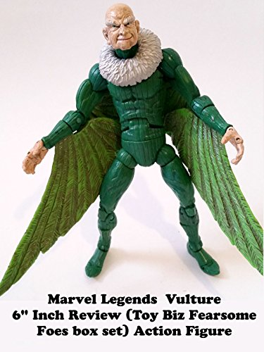"Marvel Legends VULTURE 6"" inch Review action figure toy (Toy Biz Fearsome Foes box set) on Amazon Prime Video UK"