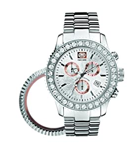 Marc EckoE18500G1 Gents Chronograph and date interchangable bezels polished silver case and bracelet silver dial