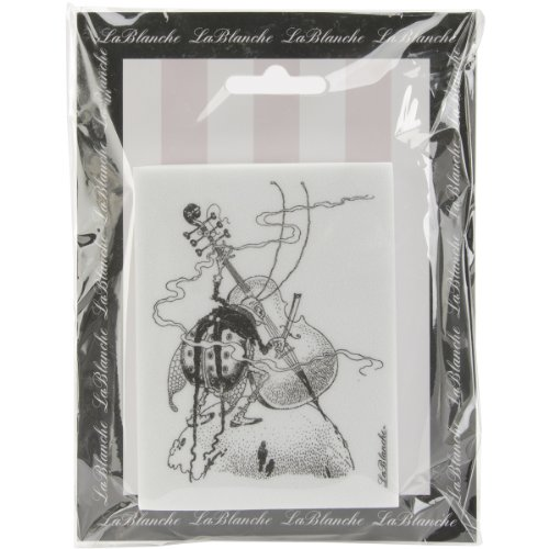 """Lablanche Silicone Stamp 3""""X4""""-Playing Cello"""