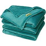 "DOZZZ Super Soft Blanket Couch Plush Blanket Solid Warming Sofa Flannel Blanket Light Weight Cashmere Velvet Plush Throw Blanket, 78"" x 58"", Teal"