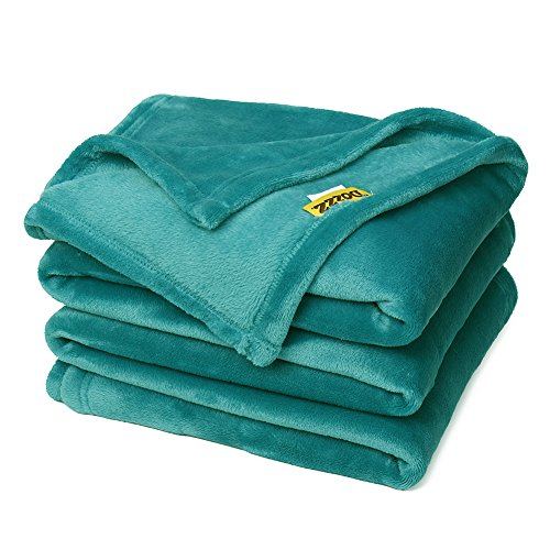 Read About DOZZZ Super Soft Fuzzy Fur Warm Teal Throw Blanket Cashmere Velvet Plush Light Weight She...