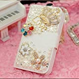 K9Q 3D Bling Crystal Rhinestone Crown Love Flower PU Leather Flip Wallet Case Cover For Samsung Galaxy Note 2 N7100 Style F With a Nice Gift