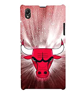 EPICCASE Red Faced Bull Mobile Back Case Cover For Sony Xperia Z1 (Designer Case)