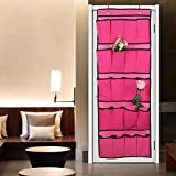 KARP 20 Pocket Over the Door Shoe Organizer Space Saver Rack Hanging Storage-Pink