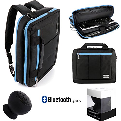 "Universal Messenger Backpack Bag Fits 8 To 10.1"" Tablets (Amazon Fire, Dell , Samsung, Toshiba, Asus, Acer, Hp... + Black Bluetooth Suction Speaker"