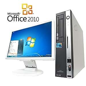 【Microsoft Office2010搭載】【Win7 搭載】【超大画面22インチ液晶セット】富士通 D5390/新世代Core i5 3.33GHz/メモリ4GB/HDD500GB/DVDスーパーマルチ/中古デスクトップパソコン