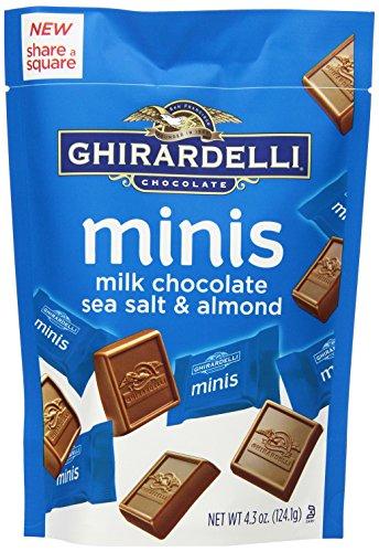 Ghirardelli Mini Pouch Chocolate, Almond and Sea Salt, 4.30 Ounce (Pack of 6) (Ghirardelli Sea Salt Chocolate compare prices)