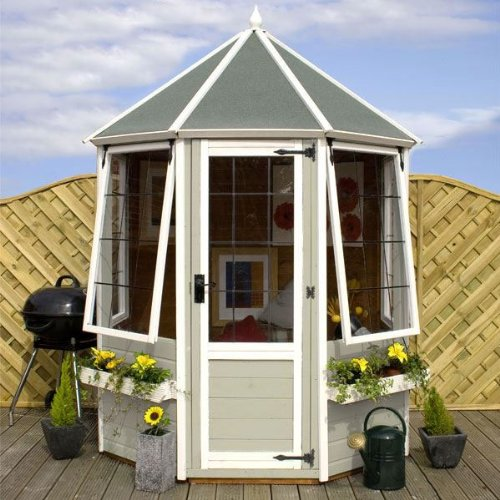 6ft x 6ft Shiplap Apex Wooden Garden Summerhouse - Brand New 6x6 Octagonal Tongue and Groove Wood Summerhouses