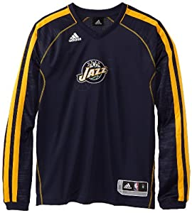 NBA Utah Jazz On-Court Long Sleeve Shooter, Small by adidas