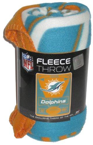 "Miami Dolphins Nfl Est. 1966 Lightweight Fleece Throw Blanket 50""X60"" front-1052941"