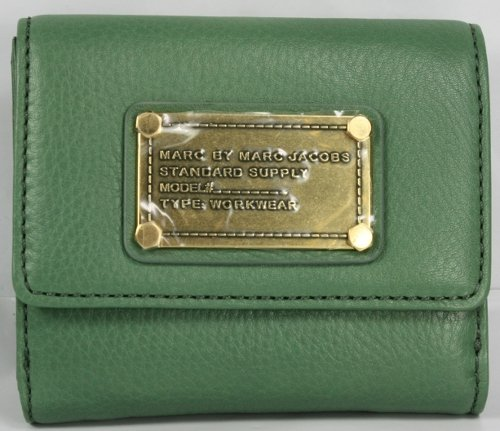 Marc Jacobs Classic Q Small French Purse Wallet Sage