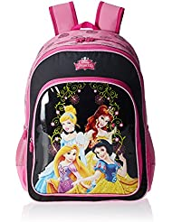 Simba 14 Inches Pink And Black Children's Backpack (BTS-2065)